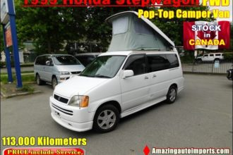 1999 Honda Stepwagon Pop-Top Camper Van FWD 113