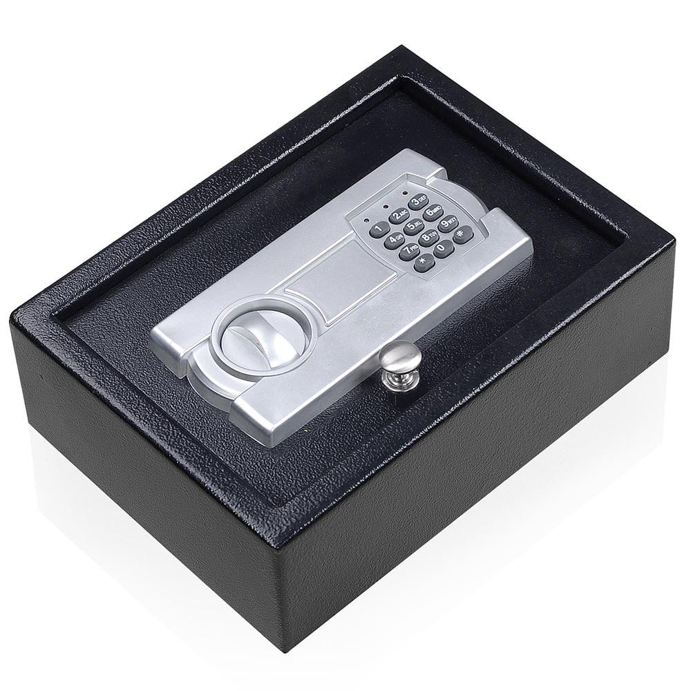 Digital Electronic Portable 12X9 Keypad Safe Hand Gun Pistol Drawer Keyless  Lock Car RV Cash Box with 4 Bolts - Walmart.com - Walmart.com