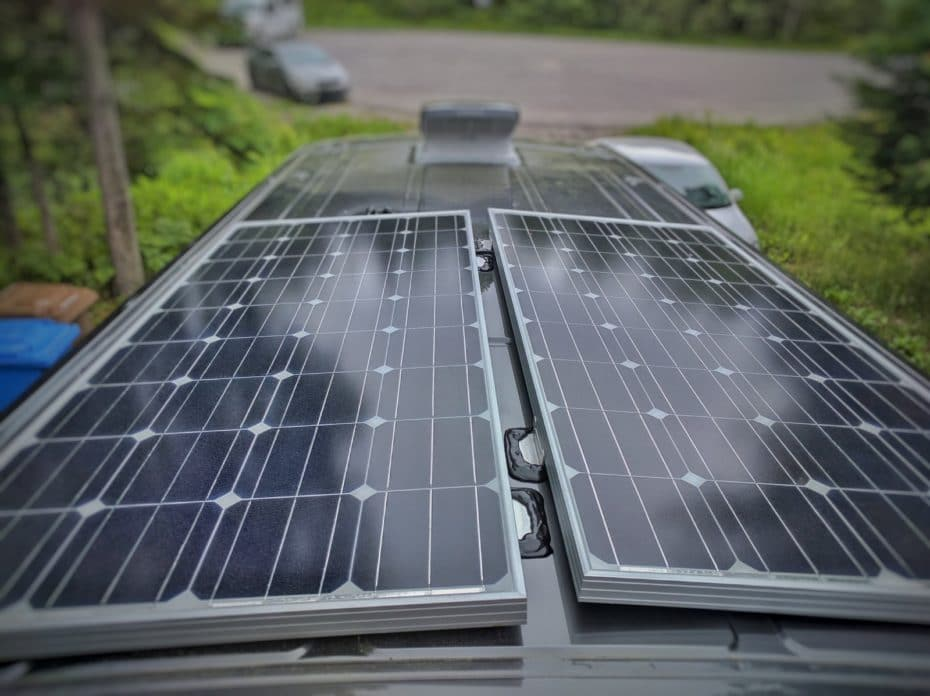 How to Install Solar Panels on a Camper Van Conversion with 3M VHB Tape (no  holes!) | FarOutRide