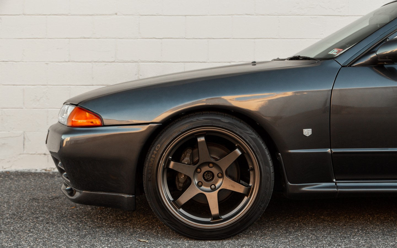 1994/Gear /& Handbremsmanschette schwarz Leder F/ür Nissan Skyline R32/1989